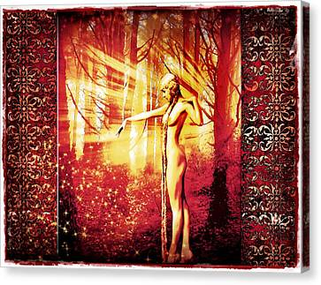 Canvas Print featuring the photograph Mistress Of The Forest 2 by Mary Morawska