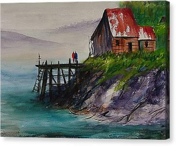 Misty Cove Canvas Print