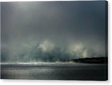 Misty Crossing-2 Canvas Print by Marie-Dominique Verdier