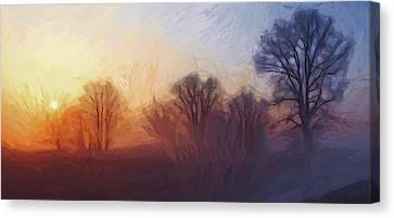 Misty Dawn Canvas Print by Steve K