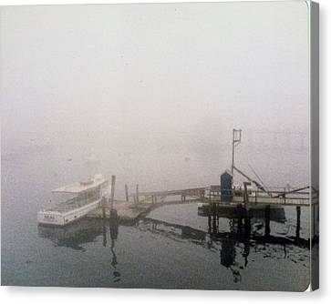Misty Harbor Rye Beach Canvas Print