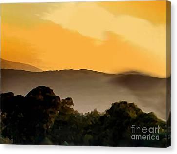 Misty Horizon Canvas Print