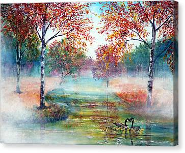 Misty Morning Canvas Print by Ann Marie Bone