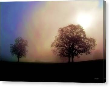 Canvas Print featuring the photograph Misty Morning by George Bostian