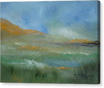 Canvas Print featuring the painting Misty Morning by Judith Rhue