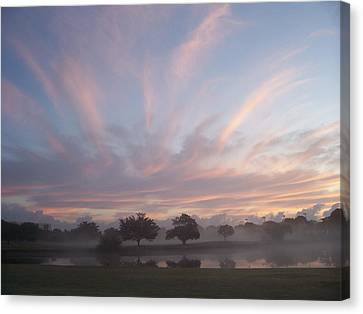 Misty Morning Sunrise Canvas Print