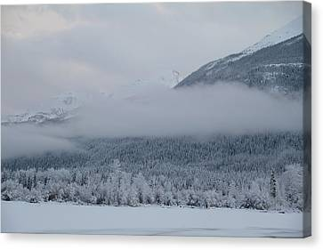 Misty Mountain Canvas Print by Kim French