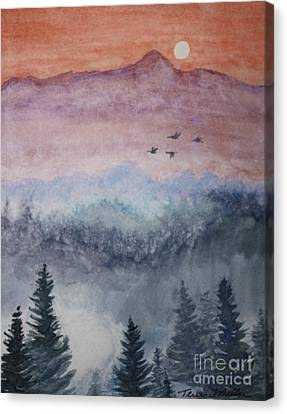 Misty Mountain Canvas Print by Terri Maddin-Miller