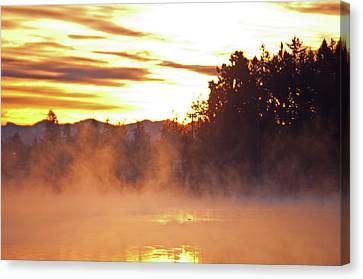 Canvas Print featuring the photograph Misty Sunrise by Tikvah's Hope