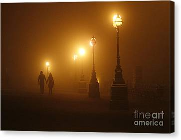 Misty Walk Canvas Print by Urban Shooters