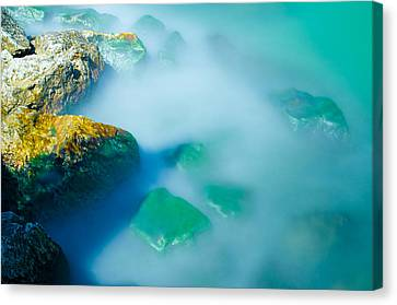 Misty Water Canvas Print by Jonah  Anderson