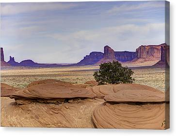 Mitchell Butte From Mystery Valley Canvas Print by Mike Herdering