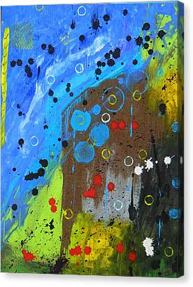 Canvas Print featuring the painting Mix It Up by Everette McMahan jr