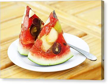 Mixed Fruit Watermelon Canvas Print by Anek Suwannaphoom