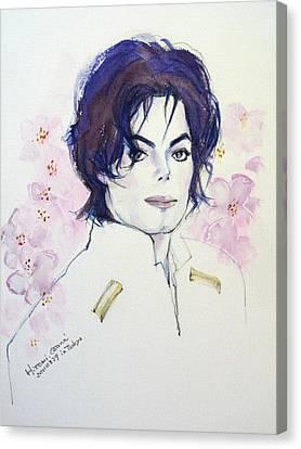 Mj In Sakura Canvas Print by Hitomi Osanai