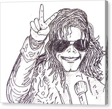 MJ Canvas Print by Rajan V