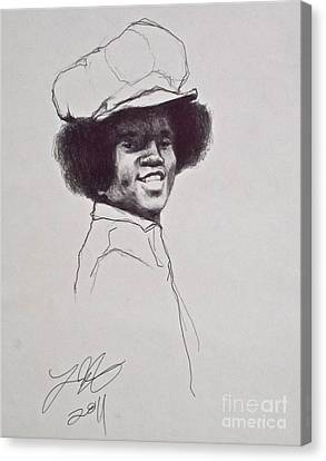 Mj The Early Years Canvas Print