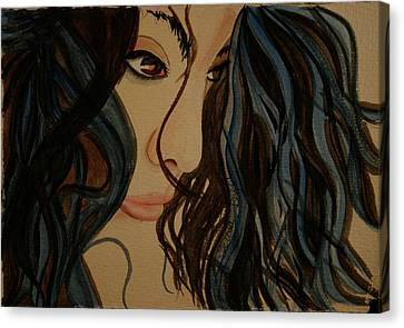 Canvas Print featuring the painting MMG by Teresa Beyer