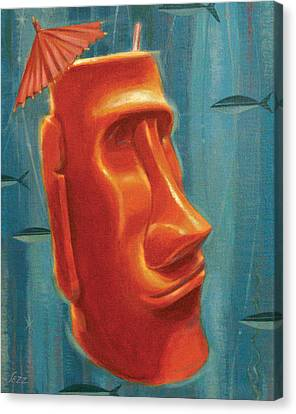 Moai Mai Tai Canvas Print by Shawn Shea