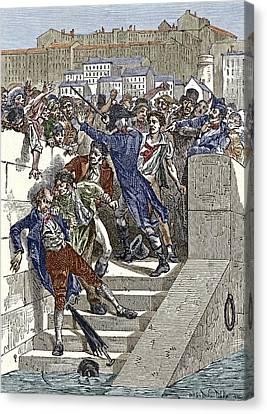Mob Attacking Jacquard In Lyon, France Canvas Print
