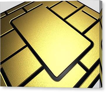 Mobile Phone Sim Card Chip Canvas Print by Pasieka