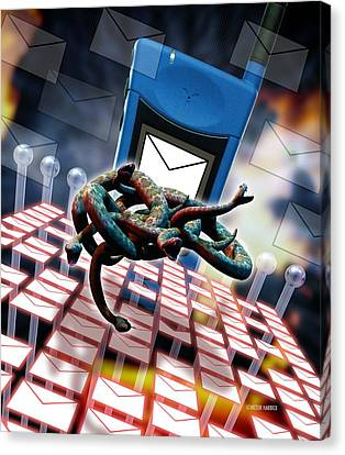 Mobile Telephone Hate Mail Canvas Print by Victor Habbick Visions