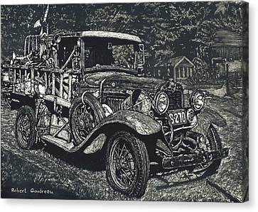 Model A Ford Canvas Print by Robert Goudreau