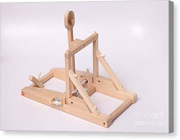Model Catapult Canvas Print by Ted Kinsman