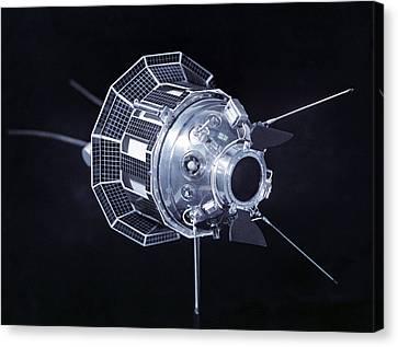 Model Of The Luna 3 Spacecraft Canvas Print