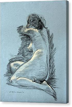 Model Resting Canvas Print by Ethel Vrana