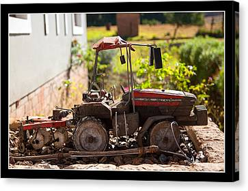 Model Tractor Canvas Print by Miguel Capelo
