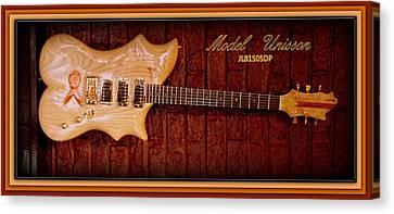 Canvas Print featuring the photograph Model Unisson Jlb1505dp Custom Guitar by Danielle  Parent