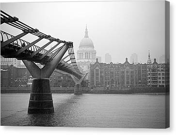 Canvas Print featuring the photograph Modern And Traditional London by Lenny Carter
