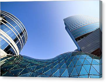 Modern Architecture In Downtown Canvas Print by Artur Bogacki