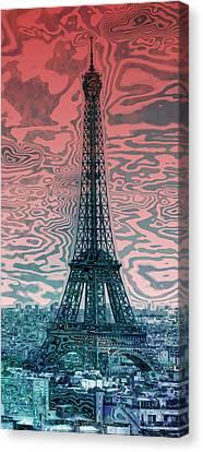 Modern-art Eiffel Tower 17 Canvas Print by Melanie Viola