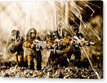 Modern Battle Field Canvas Print by Marc Garrido