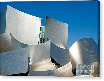 Modern Disney Concert Hall In Los Angeles California Canvas Print by ELITE IMAGE photography By Chad McDermott