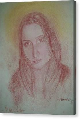 Modern Madonna Canvas Print by Sheila Gunter