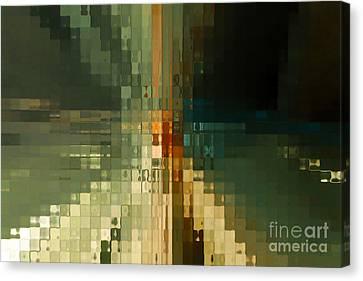 Modern Mosaic Wall Art- Three Canvas Print by Mark Lawrence