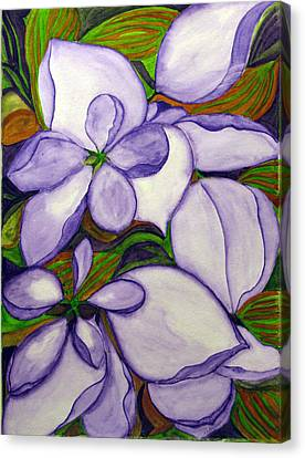 Canvas Print featuring the painting Modern Mussaenda by Debi Singer
