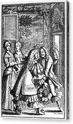 Moliere: Pr�cieuses, 1682 Canvas Print by Granger