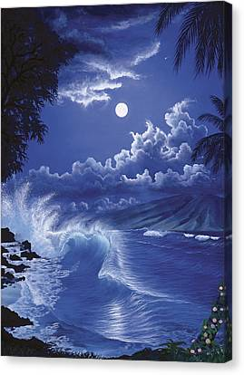 Molokai Moonlight Canvas Print