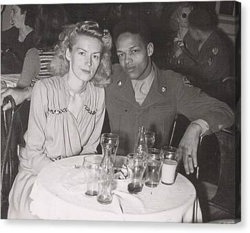 Canvas Print featuring the photograph Momma And Daddy In 1949 by Alga Washington