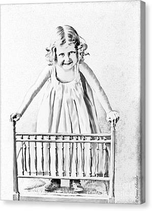 Pencil Sketch Canvas Print - Mommy See How Tall I Am by Lianne Schneider