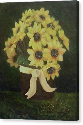 Mom's Bouquet Canvas Print by Christy Saunders Church