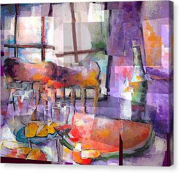 Mom's Table Canvas Print by J Christian Sajous