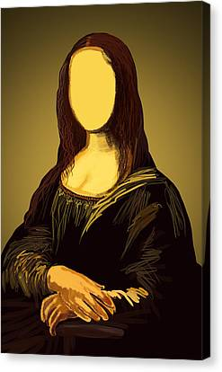 Mona Lisa Canvas Print by Setsiri Silapasuwanchai