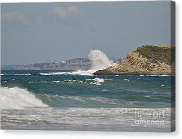 Canvas Print featuring the photograph Monarch Wave by Johanne Peale