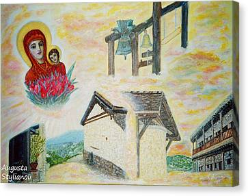 Panagia Canvas Print - Monastery Of The Virgin Mary by Augusta Stylianou