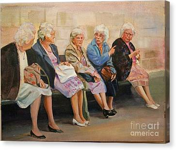 Monday At The Social Security Office Canvas Print
